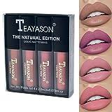 TEAYASON 4 Colors Long-lasting Liquid Matte Mini Lipstick Set - Great for gift