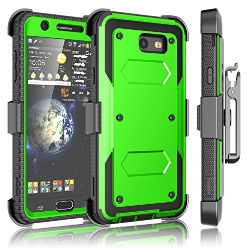 Tekcoo Galaxy J7 Sky Pro Case, Tekcoo Galaxy J7 V/J7V/J7 Perx Holster Clip, [TShell] [Built-in Screen] Locking Secure Swivel Belt Kickstand Phone Cover Full Body Case Cover For Samsung J7 2017 [Green]
