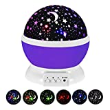 Star Projector Night Light for Kids, Moon Star Night Lights Starry Rotating Projection Lamp Party...