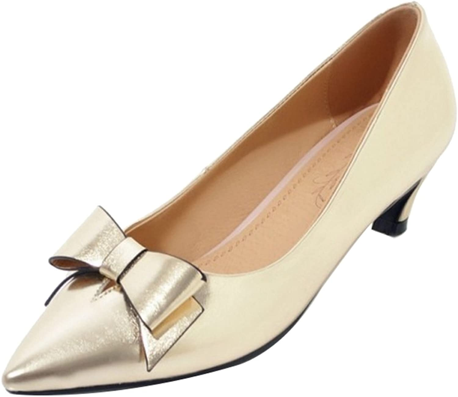 CuteFlats Women Pumps with Kitten Heel and Pointed Toe Casual shoes
