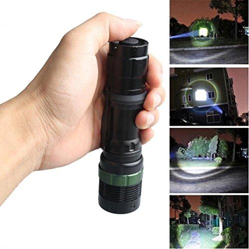 Ouneed Potente 3500 lumen 3 modi di CREE XM-L T6 LED Zoomable Luce impermeabile 18650 Torcia elettricaML LED 18650 Torcia elettrica Torcia