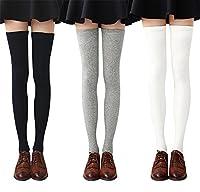 COSY ET CONFORTABLE - Nos chaussettes au-dessus du genou pour femmes sont fabriquées à partir de mélanges de poly-coton doux et confortables, respirants et confortables. Les chaussettes longues pour femmes ont une bonne élasticité et ne tomberont pas...