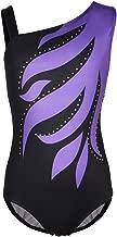 Girls Flame One Cold Shoulder Athletic Dance Gymnastic Leotards Bodysuit Outfit