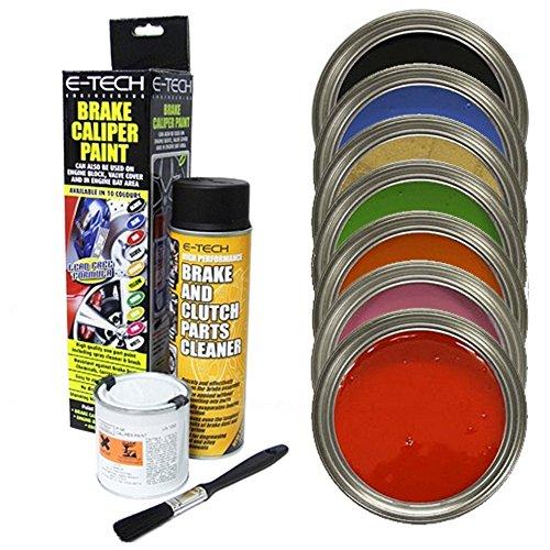 E-Tech EBCP-W Kit de Pintura de Pinza de Freno para Coche, Color Blanco