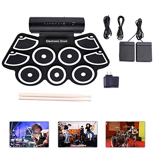 Fantastic Prices! N/P Foldable Digital Electronic Drum, Roll Up Electronic Drum Built in Speaker 9 P...