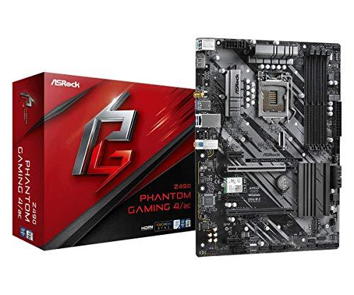 ASRock Z490 Phantom Gaming 4/ac, Intel Z490-Mainboard - Sockel 1200