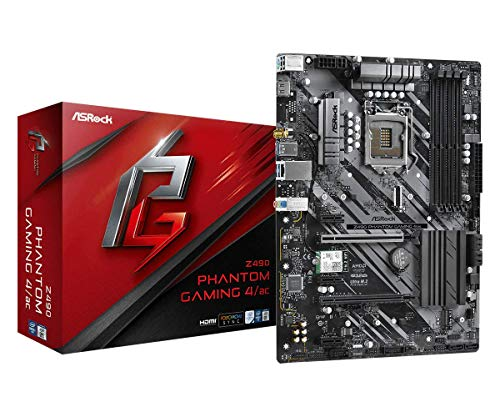 ASRock Z490 Phantom Gaming 4/ac, Intel Z490-Mainboard - Sockel 1200