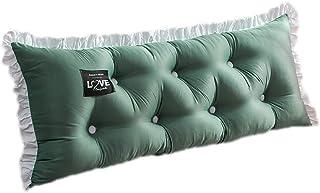 Almohada de cabecera de cuña, Almohada Triangular Grande para Reposo de Cama, Soporte de posicionamiento para Leer en la Cama (Color : Green, Size : 120cm)