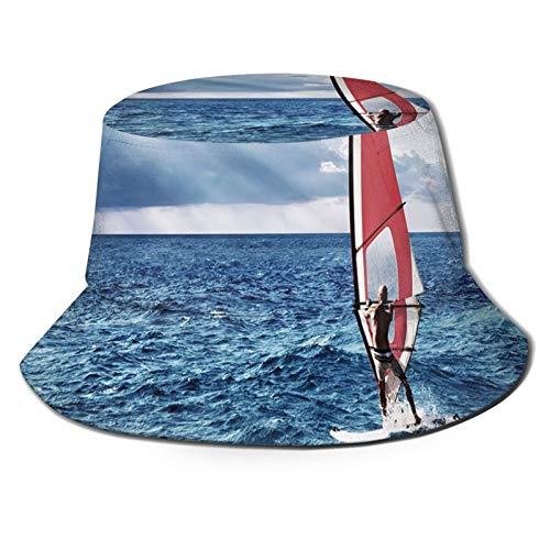 FULIYA Sombrero de chofer de marinero de pescador de verano, windsurfista en el mar exótica aventura feliz verano playa desafío imagen