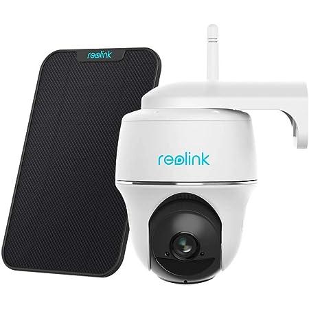 Reolink Caméra Surveillance WiFi Extérieure Argus PT avec Panneau Solaire, 1080p Caméra IP sur Batterie sans Fil, Pan/Tilt, Audio-Bidirectionnel, Détection Mouvement PIR et Fente de Carte Micro SD