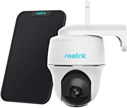 Reolink Argus PT w/Solar Panel - Wireless Pan Tilt Solar Powered WiFi Security Camera System w/Rechargeable Battery Outdoo...