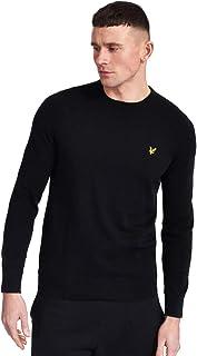 LYLE & SCOTT Crew Neck Cotton Merino Sweater Large Black