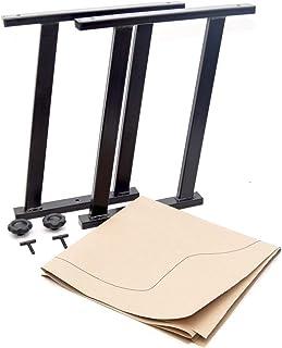 Multiflexboard Konsolen schwarz H = 51 cm für VW Multivan T5 / T6 + 1:1 Zuschnittvorlage