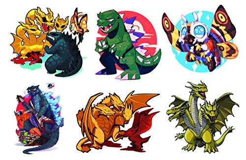 Godzilla Sticker, Waterproof Decal with Cute Chibi Design, The for Decorating Your Water Bottles, Laptop, Skate Board, Helmet and Luggage. by H2 Studio (Big Godzilla Size)