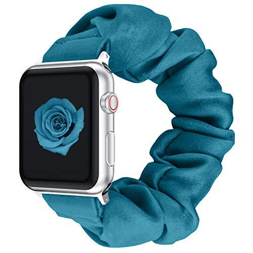 Vozehui Bracelet élastique Compatible avec Le Bracelet Apple Watch 38 mm, Bracelet en Tissu imprimé à Motif coloré Doux Compatible avec la série iwatch 6/5/4/3/2/1 Femmes Filles