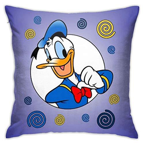 nxnx Donald Duck - Juego de fundas de almohada decorativas de 45,7 x 45,7 cm, forma cuadrada