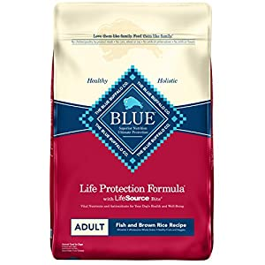 Blue Buffalo Life Protection Formula Natural Adult Dry Dog Food, Fish and Brown Rice 30-lb