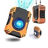 7000mAh Ventilador Portátil Cintura Clip en, Cuello Ventilador Personal 7100RPM con Spotlight/Modo SOS, 3 Velocidades USB Recargable Mini Ventilador de Correa por Trabajando Cocinando Cámping Pesca