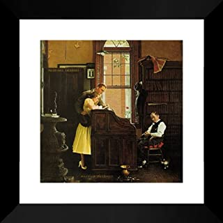 The Marriage License 20x20 Framed Art Print by Norman Rockwell