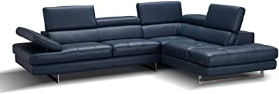 Amazon.com: Upholstered Leather Sectional Sofa, Corner Couch ...