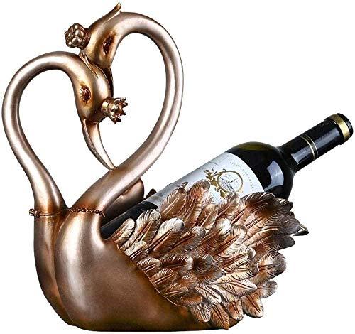 YsKYCA Statuetta,figurina Semplice artigianato Bar Cafe Soggiorno Regalo di nozze Regalo Artigianale Di Figurine Da Collezione Swan Wine Rack Home Camera Da Letto Armadio Per Vino Armadio Tv Ingresso