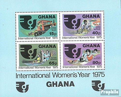 Ghana Bloc 61 (complète.Edition.) 1975 Femme (Timbres pour Les collectionneurs) Circulation routière