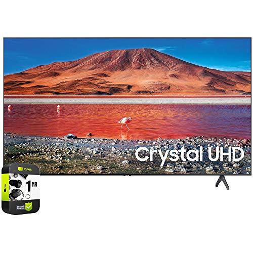 SAMSUNG UN55TU7000FXZA 55 inch 4K Ultra HD Smart LED TV 2020 Model Bundle with Support Extension