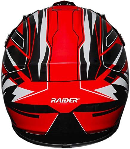 Raider 2131014 GX3 Unisex-Child MX Off-Road Helmet (Red, Youth Medium) Connecticut