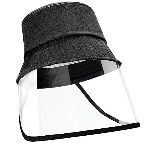 EXTSUD Kinder Schutzmütze Fischerhut, Anti-UV-Sonhut für Outdoor Unisex Gesichtschutz Mütze Schutzhutabdeckung Anti Staub, Anti Fog, Anti-Beschlag, Schwarz