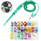 220pcs Mini Fusibili 2A/ 3A/ 5A/ 7.5A/ 10A/ 15A/ 20A/ 25A/ 30A/ 35A Fusibili Blade Fuse for Car Auto Moto SUV Automotive Replacement Fuses with Puller Extraction Tool Kit And Car Circuit Tester Pen