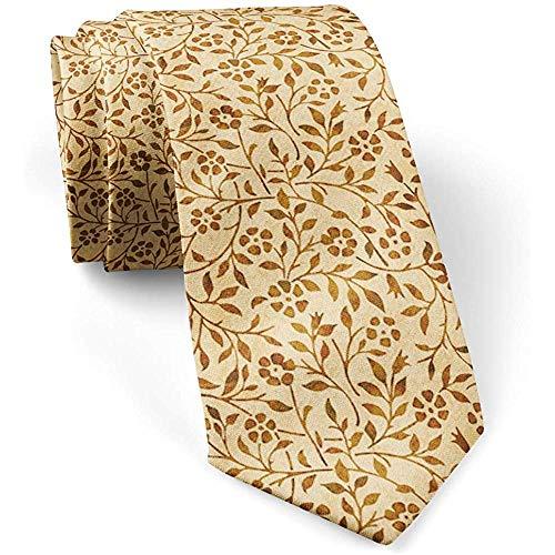 Warm Night Retro Brown-Aquarell-Schmutz-dünne dünne Mode-Krawatte für Männer, Neuheits-Gesprächs-Krawatten-Krawatten, perfektes Geschenk