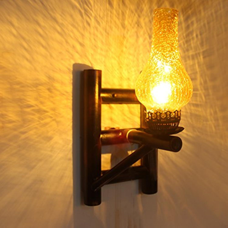 StiefelU LED Wandleuchte nach oben und unten Wandleuchten Bambus Kunst Wandleuchten über Bar im Wohnzimmer, Arbeitszimmer