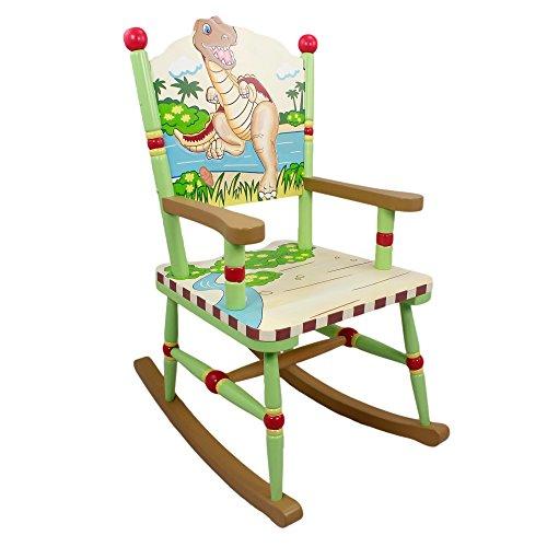 Sedia a dondolo legno cameretta bambini Fantasy FieldsDinosaur TD-0076A