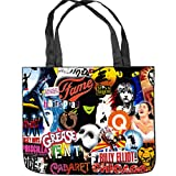 if the musical merchandise - Broadway Musical Collage Tote Bag Shopping Bag Shoulder Handbags Canvas Tote Bag (Two Sides Print) Size: 15.5