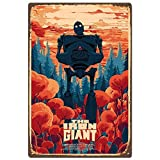 Movie Posters The Iron Giant Tin Logo Retro Vintage Metal Bar Club Cafe Restaurant Home Bedroom Bathroom Movie Wall Art Decoration 8x12 Inches
