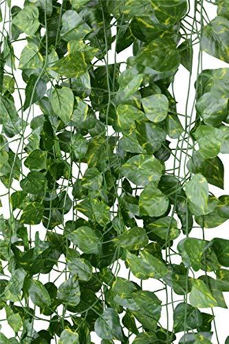 MARTHA IVAN Konstgjord murgröna 14-pack 90 fot, dekorationer för konstväxter av murgröna, falska vinstockar, dekorativa vinstockar för sovrum, bröllop, fest, trädgård, heminredning (14-pack murgrön-2)
