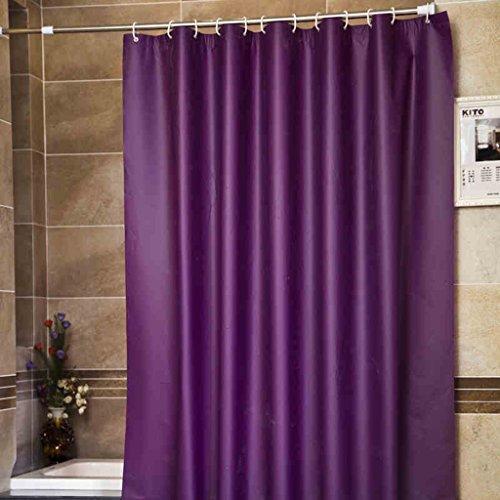 AI XIN SHOP Badezimmer- Feste Farbe Wasserdicht Moldy Badezimmer Duschvorhänge enthalten Haken (Farbe : Lila, größe : 2 * 2m)
