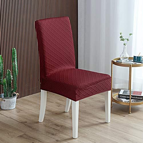 WENBING Fundas Protectoras Elasticas4 Piezas Fundas Decorativas para sillas de Comedor Fundas para Sillas de Comedor Fundas Decorativas para Sillas Altas,Rojo