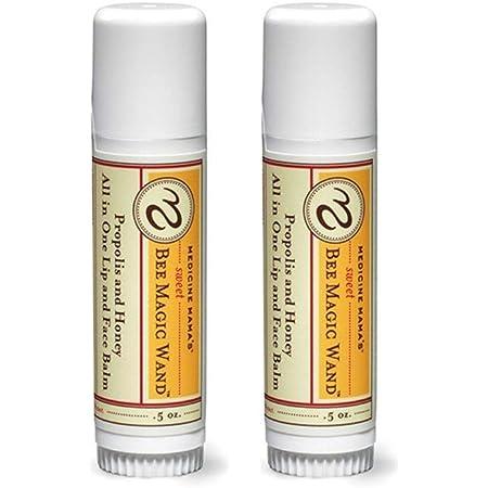 Medicine Mama's Sweet Bee Magic Organic Lip Balm Chapstick, 0.65 oz, 2 Count