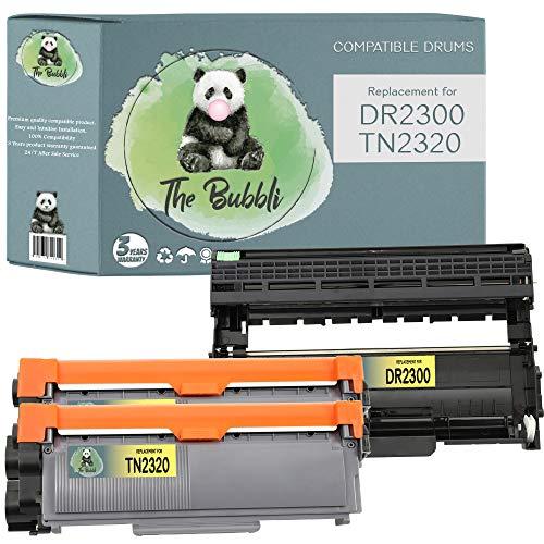 The Bubbli Original | DR-2300 TN-2320 Unidad de Tambor 2 Tóners Compatibles para BROTHER HL-L2300D L2320D L2340DW L2360DN L2360DW L2365DW L2380DW DCP-L2500D L2520DW L2540DN L2560DW MFC-L2700DW, 3-PACK