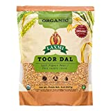 Laxmi Organic Toor Dal, Traditional Indian Split Yellow Peas - 2lb Bag