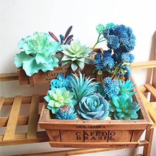 7 pz piante grasse artificiali fai da te non in vaso composizione di piante finte finte finte grasse mini bonsai decorazione casa giardino