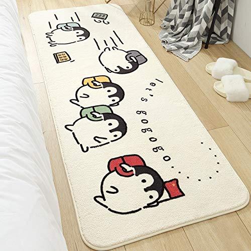 GIAMA Cartoon Dormitorio Alfombra Larga Super-Densidad Mirador Mullido Alfombra con baño Antideslizante Absorbente Alfombras de aletreros
