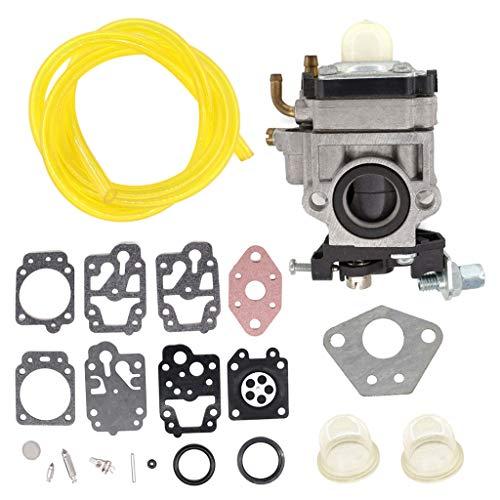 HURI, kit di riparazione per carburatore, tubo benzina, primer Bulb, adatto per decespugliatore Florabest FBS 43 A1 FBK 4 B2 4 in 1, Parkside PBK 4 A1 PBS 2 A1