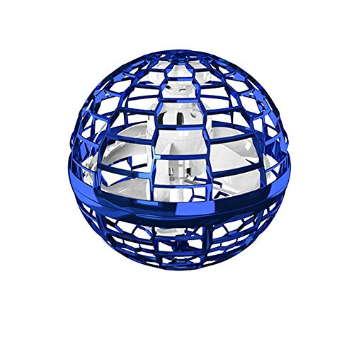 Bumerang-Spinner Flying Toy Drones Hände frei Ball Drohne Hubschrauber für Kinder/Freunde Fliegendes Spielzeug, Kugelform Magischer Controller Mini Drohne Flugspielzeuge Fliegender Spinner (Blau-A)