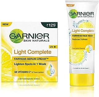 Garnier Skin Naturals Light Complete Serum Cream, 45g And Garnier Skin Naturals Light Complete Facewash, 100g