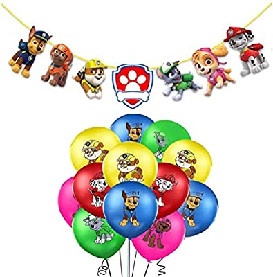 Decoración Cumpleaños Patrulla Canina Globos Patrulla Canina Pancarta Cumpleaños Patrulla Canina Balloons Paw Dog Patrol Balloons por smileh