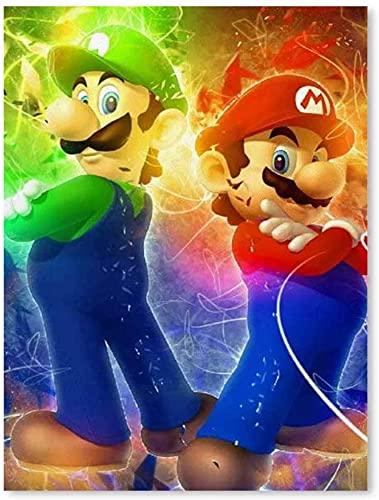 Amacigana Super Mario Brothers Art obrazy na ścianę do salonu, dekoracja ścienna, druk artystyczny 3D, super rozmiar, dekoracja ścienna, naklejka dla dzieci do dekoracji mieszkania