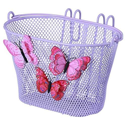 Basil Unisex Jugend Jasmin Kinderfahrradkorb, Purple, 28 cm x 20 cm x 19 cm
