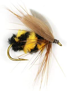 qsbai 10Pcs Artificial Insect Bumble Bee Ant Trout Fly Fishing Lure Bionic Bait Tackle